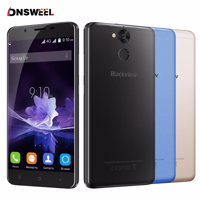 Original Blackview P2 smartphone 4GB RAM 64GB ROM Android6.0 Cell Phone MT6750T Octa Core 5.5 inch FHD 6000mAh Mobile Phone 13MP