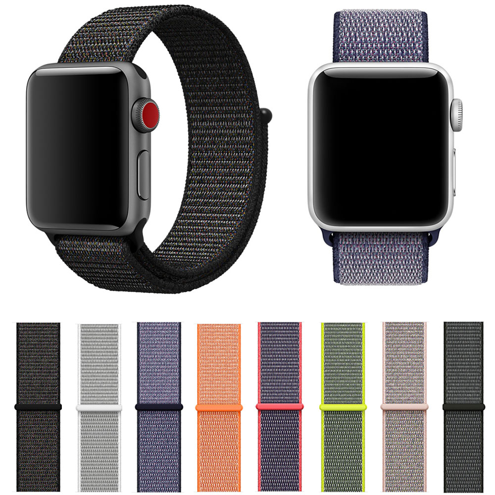 Breathable Nylon Sport Loop Band for Apple Watch Series 1 2 3 Strap 42MM 38MM Watchbands Bracelet for iWatch sport loop for apple watch band case 42mm 38mm nylon watch strap bracelet with metal frame protector case cover for iwatch 3 2 1