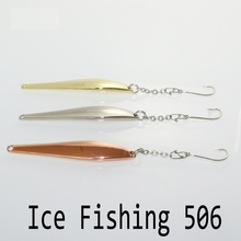 Ice fishing 8g 66mm isca artificial metal jig leurre peche bass carp winter fishing spoon bait bkk hooks fishing tackles 506
