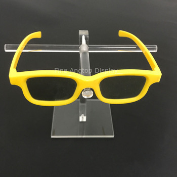 Single Tier Clear Acrylic Sunglasses Eyeglasses Display Stand Holder Fixture 5 tier desktop acrylic step display stand holder for small toys