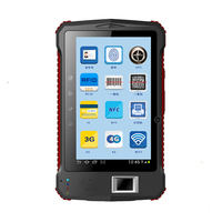 7 Industrial Rugged Tablet Fingerprint UHF RFID 2D Laser Barcode Scanner Android 6 0 Handheld Terminal