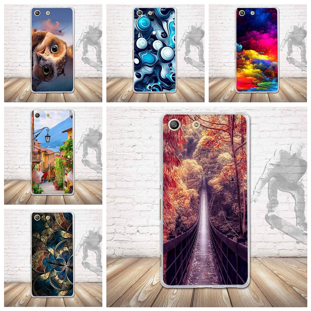 Case for Sony Xperia M5 E5603 E5606 E5653 Back Silicone Phone Cover for sony xperia m5 Soft TPU Shells For Sony Xperia M5 Fundas