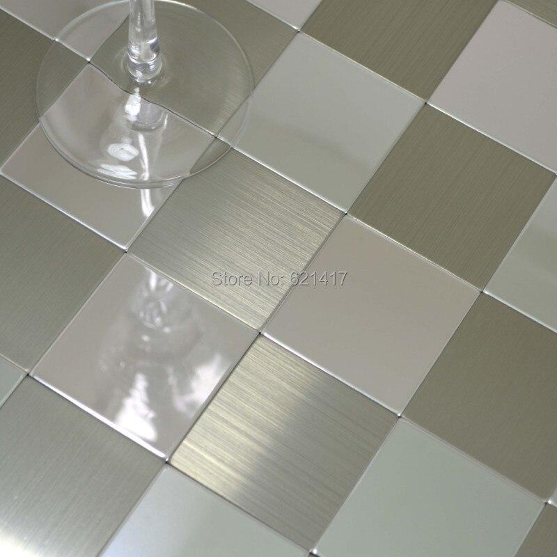 Carreaux De Mosaique Auto Adhesifs En Aluminium Pour Carreaux De