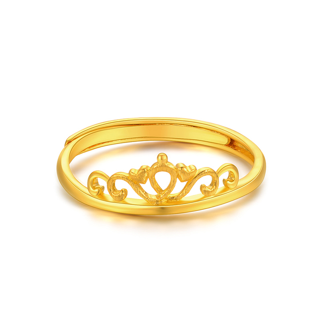 XXX 24K Pure Gold Ring Real AU 999 Solid Gold Rings Good Crown Beautiful Upscale Trendy Classic Party Fine Jewelry Hot Sell New 2