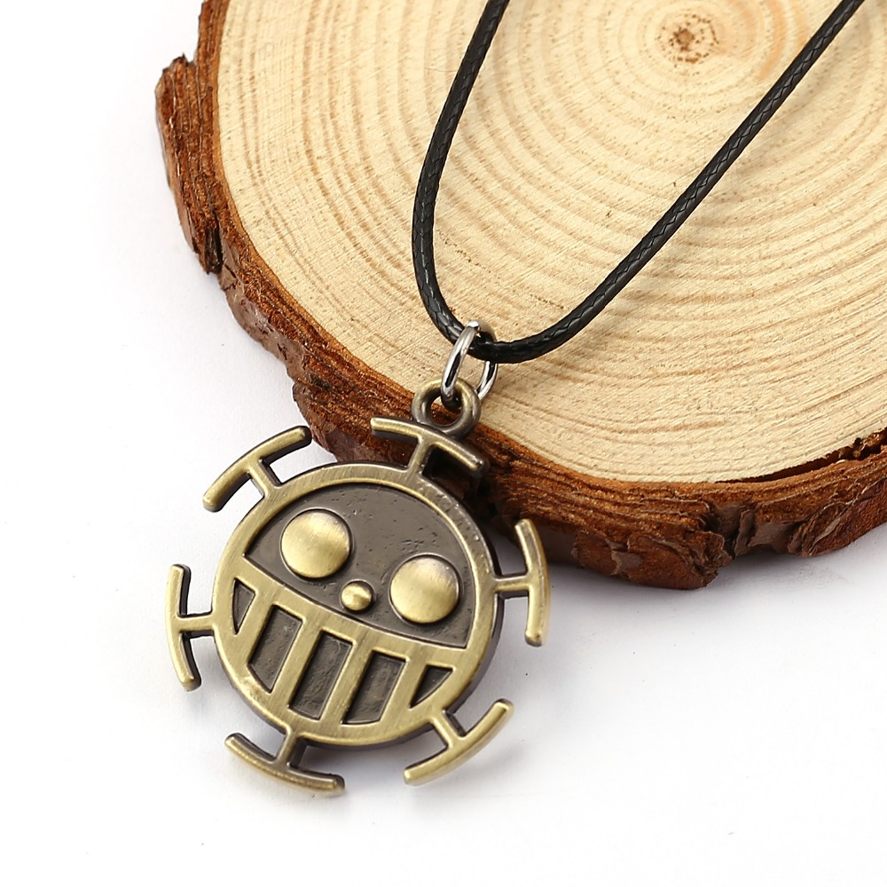 HSIC One Piece Necklace Surgeons Trafalgar Law Necklace Friendship Rope Chain Mens Fashi ...
