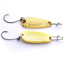 4pc/box Brand Spoon Lures Mixed Size 2.5g/3.5g Metal Lure Fishing Lures Gold/Silver Color Spoon Bass Bait Fishing Tackle