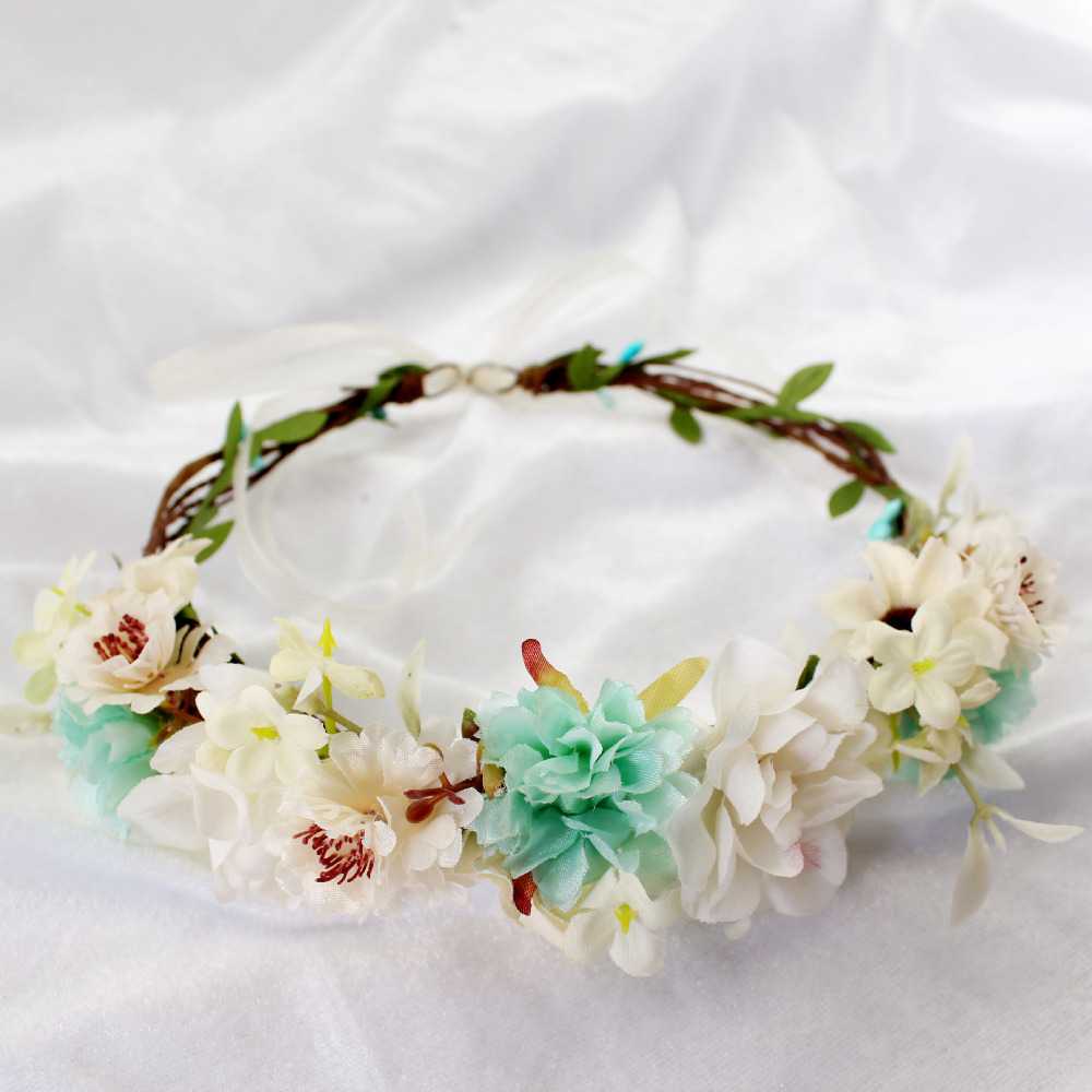 Women Girl Flower Crown Wreath Wedding Bridal Artificial Flower