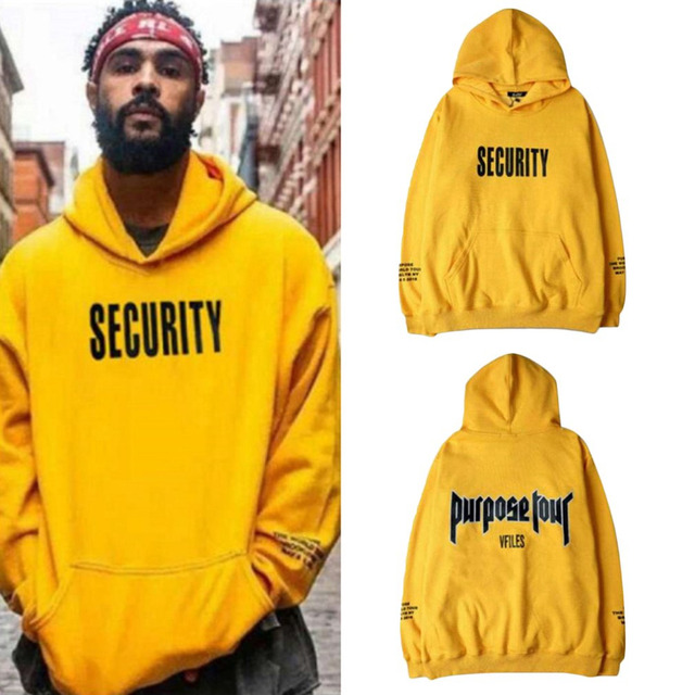 71d06c820ec Spring Fashion Men Thick Hoodie Sweatshirt Letter Printed Loose Style Male  Casual Tracksuit Long Sleeve Yellow Hooded Pullovers