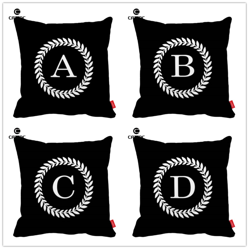 Black Quote Letter Word Simple Style Print Car Decorative Throw Pillowcase Pillow Case Cushion Cover Sofa Home Decor