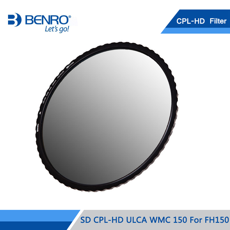 BENRO 150mm CPL Filter SD CPL-HD ULCA WMC/SLIM 150 For FH150 Multi Coating Polarizing Filter Optical Glass DHL Free Shipping benro 58mm cpl filter shd cpl hd ulca