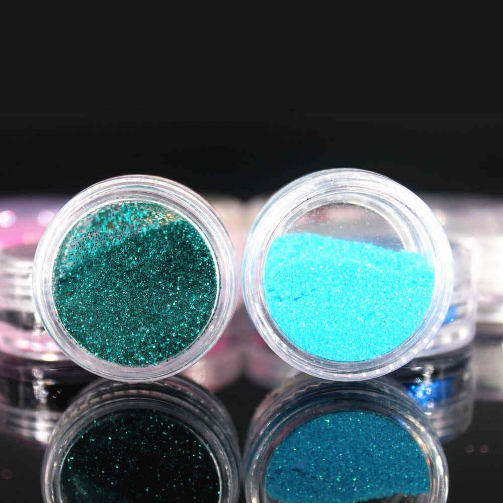 12 kolorów brokat do paznokci zestaw narzędzi do akrylowy klejnot narzędzia do malowania paznokci 3D ozdoby do paznokci proszek do pudru do paznokci 2017 Hot