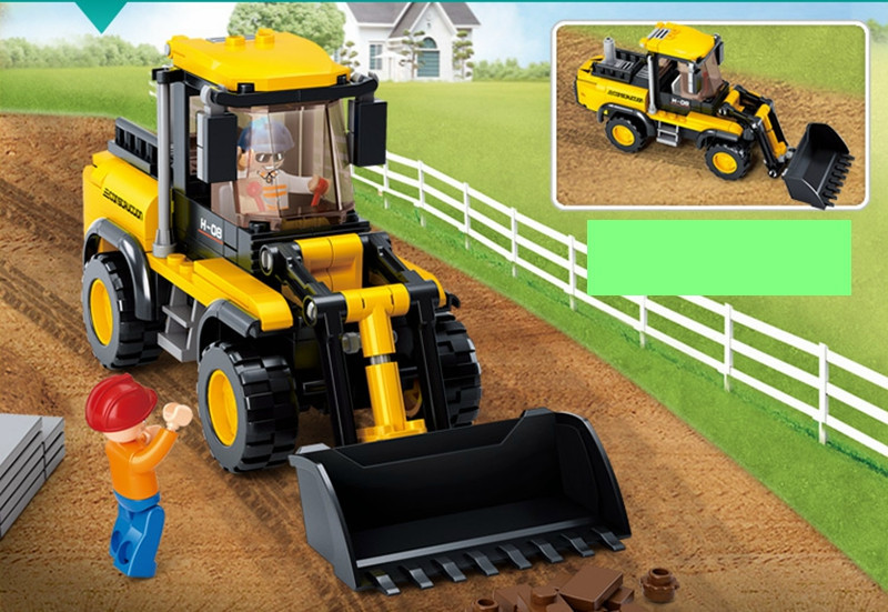 Sluban Truck Blocks Forklift SimCity Friends Enlighten Toys For Children Educational Toys Bricks Compatible With Legoe