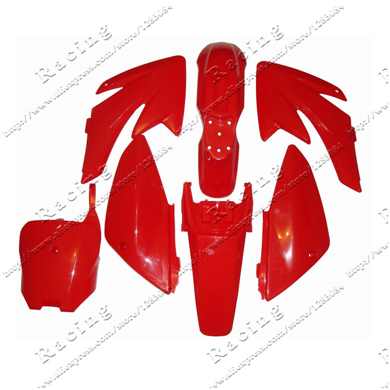 CRF70 Plastic covers Plastic kits Fairing CRF70 Pit Bike Procket Bike KAYO 140 Plastic parts front plastic number plate fender cover fairing for honda crf100 crf80 crf70 xr100 xr80 xr70 style dirt pit bike