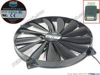 Emacro For Cooler Master A20020 07CA 2JN F1 DF2002005SELN DC 5V 0.30A 200x200x25mm Server Round Fan