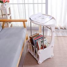 Nightstand table modern bedside cabinet storage cabinet Hollow Out Design Ivory White small table dormitory bedroom DQ1810-1(China)