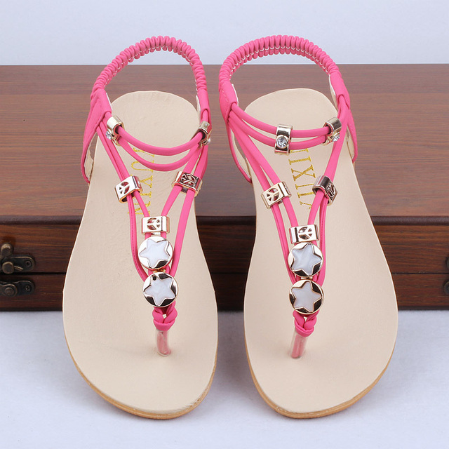 b49ee2574 2015 New Girls Summer Style Gladiator Boho Chic Sandals Kids Casual Casual  Beach Shoes Children Flip Flops Slippers , LJ010