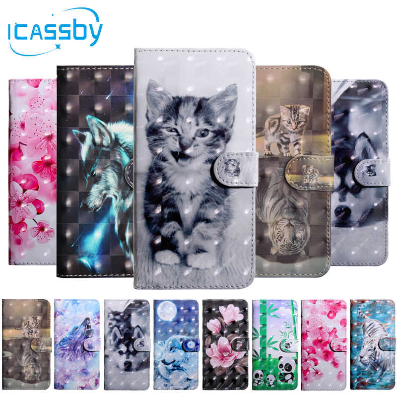 Flip Book Case For Coque Huawei Honor 20 Lite Luxury Cat Leather Wallet Phone Cover For Honor 20 Lite HRY-LX1T Case Etui Capinha