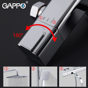 Image 4 - GAPPO Thermostatic shower faucet bathroom cold hot water  faucets rotatable lifting type brass rainfall shower mixers