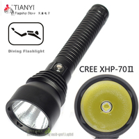 Diving Flashlight Torch Stepless dimming LED Diving torch Underwater Waterproof 100m CREE XHP70 LED SCUBA Torch For 2*26650