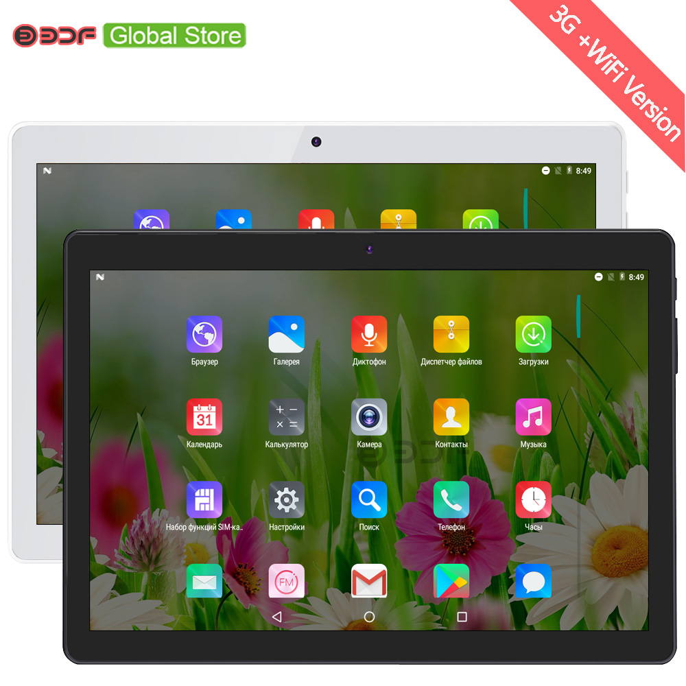 10 Inch Quad Core 4GB+32GB Tablet Pc Android 7.0 3G Mobile Phone Call SIM Card Tablets Pc 5MP+2MP Cameras Cheap Simple 5000mAh