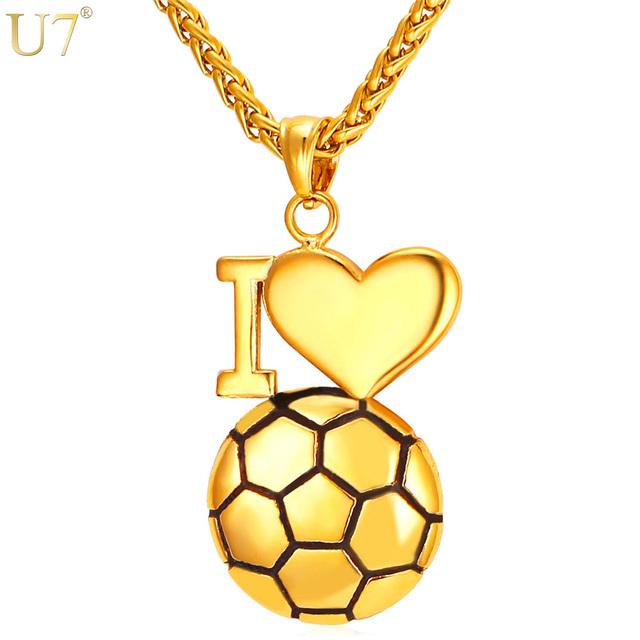 I Love Soccer – Football Pendant Necklace