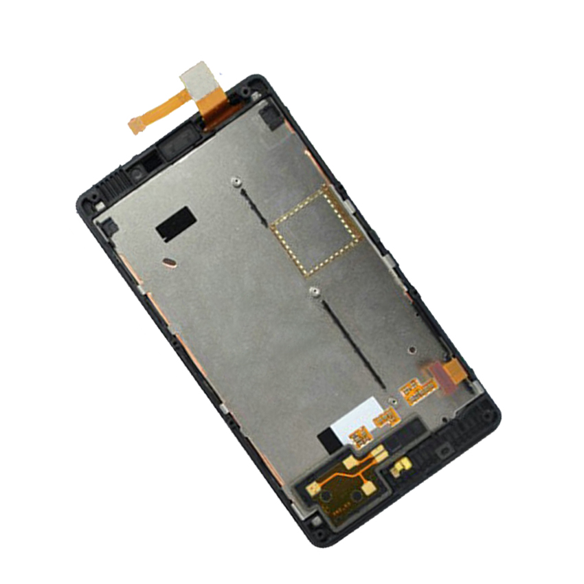 Black For Nokia Lumia 820 N820 Touch Screen Digitizer Sensor Glass + LCD Display Panel Monitor Assembly with Frame