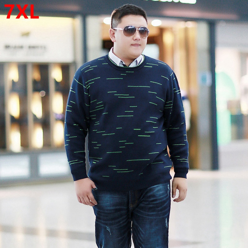 Winter Plus Size Loose Sweater 8XL Men's Oversized Long Sleeve Extra Large Sweater 140kg 7XL 6XL