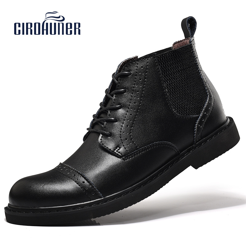 CIROHUNER Mens Shoes Casual Winter Mens Business Shoes Men Lace-up Oxfords Flats Black and Brown Rubber zapatos hombre 2015 autumn winter men casual shoes fashion business suede men oxfords shoes lace up comfort casual men flats shoes