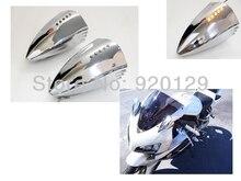 Chrome Motorcycle Turn Signal Pig Spotter Mirrors for Kawasaki Ninja ZX 6R 7R 9R