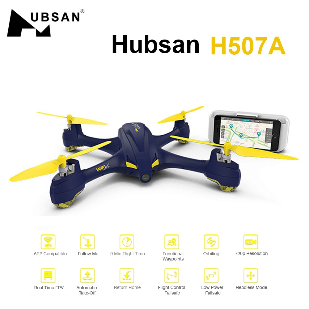 все цены на Original Hubsan H507A X4 Wifi Pro APP Driven Selfie Camera Drone GPS RC Quadcopter With Camera 720P FPV Helicopter BNF RTF Dron онлайн