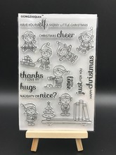 CHRISTMAS CHEER Transparent Clear Silicone Stamp/Seal for DIY scrapbooking/photo album Decorative clear stamp sheets A554