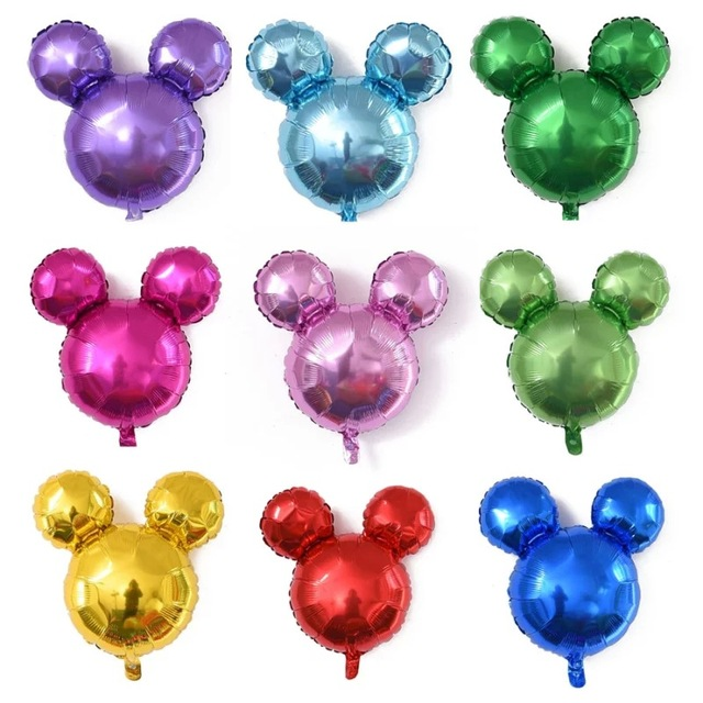 New Mickey Aluminum Foil Balloons Birthday Minnie Party Baby Hundred Days Mouse Head