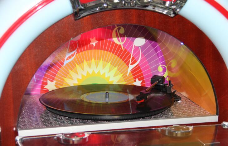 Retro Jukebox JSY 12C vinyl jukebox, CD Player, Record payer