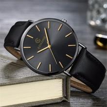 Ultra Thin Men Quartz Watch KEMANQI Luxury Male Clock Business Simple Mens Leath