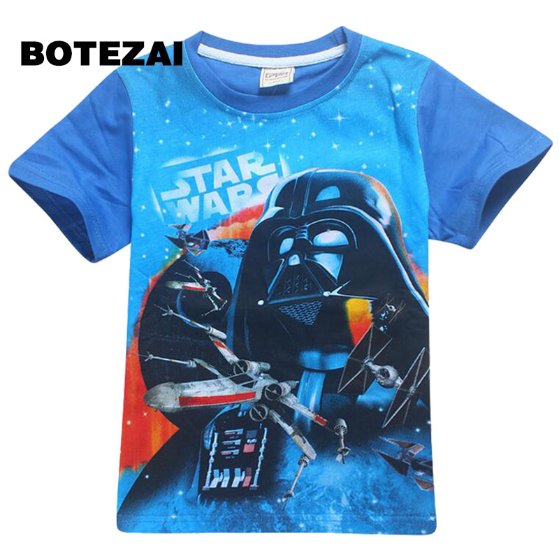 2017 summer new boy cartoon short-sleeved shirt Star Wars star wars 4-12 year-old short-sleeved shirt boys summer T-shirt2017 summer new boy cartoon short-sleeved shirt Star Wars star wars 4-12 year-old short-sleeved shirt boys summer T-shirt