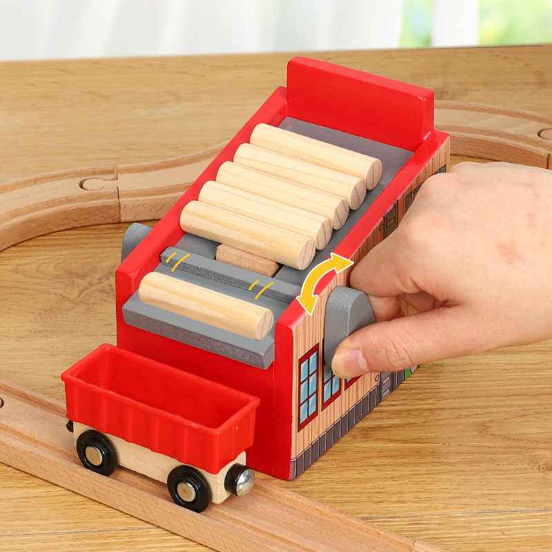 Friends Wooden Track Scene Accessories Lumber Yard Compatible With Rail Car Platform Thom Wood Track Brio Track Train Railway