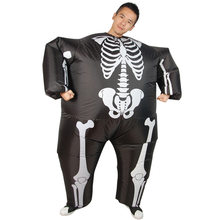YHSBUY 2018 Adult Skeleton Stlye Inflatable Costume New Design Tees Mimic Halloween Party Toys Giant Funny Props for Kids,HZ019(China)
