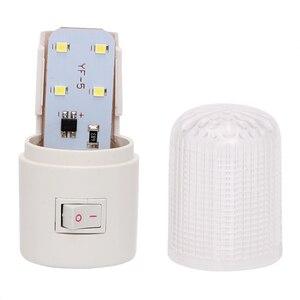 Image 4 - 비상 조명 벽 램프 홈 조명 LED 야간 조명 EU 플러그 침대 옆 램프 벽 마운트 에너지 효율적인 4 LED 3W