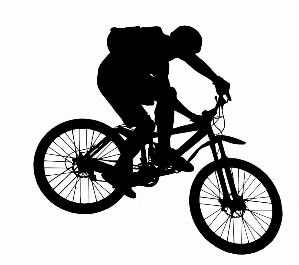Sticker design for mountain bike - New Fasion Big Mountain Bike Wall Sticker Boy Riding Bike Mural Art Vinyl Wall Decal Bike