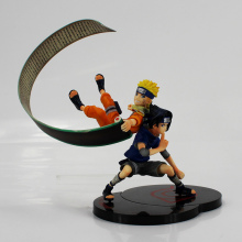 Anime Naruto Uzumaki Figure Sasuke Uchiha toy With Kunai Shuriken Figurine