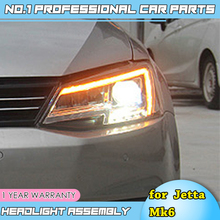 цена на Car Styling Head Lamp for VW Jetta Mk6 LED Headlight 2011-2018 R8 Design Headlights Drl Hid Bi Xenon Auto Accessories