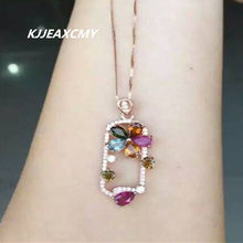 KJJEAXCMY boutique jewelry, Women's necklace, natural tourmaline, pendants, jewelry wholesale, S925 silver, pure silver