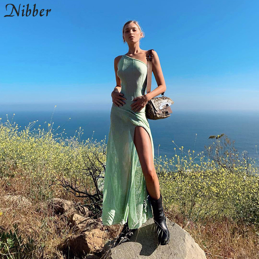 Nibber Beach leisure vacation long <font><b>dresses</b></font> womens summer party night <font><b>sexy</b></font> see-through Solid stretch Slim Strapless <font><b>dresses</b></font> mujer image
