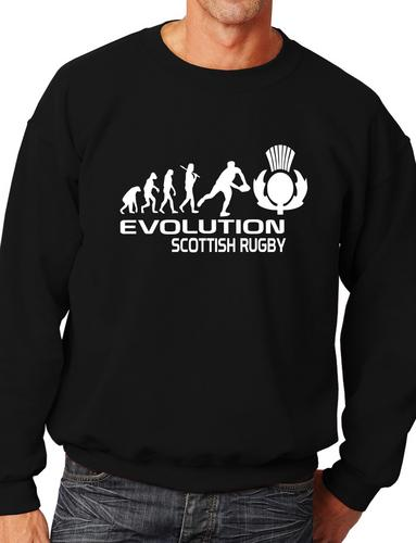 Evolution of Scottish booter Adult Sweatshirt Jumper Birthday Gift More Size and Color E158 in Hoodies amp Sweatshirts from Men 39 s Clothing