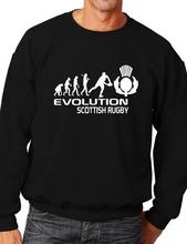 Evolution of Scottish Rugby Adult Sweatshirt Jumper Birthday Gift More Size and Color-E158
