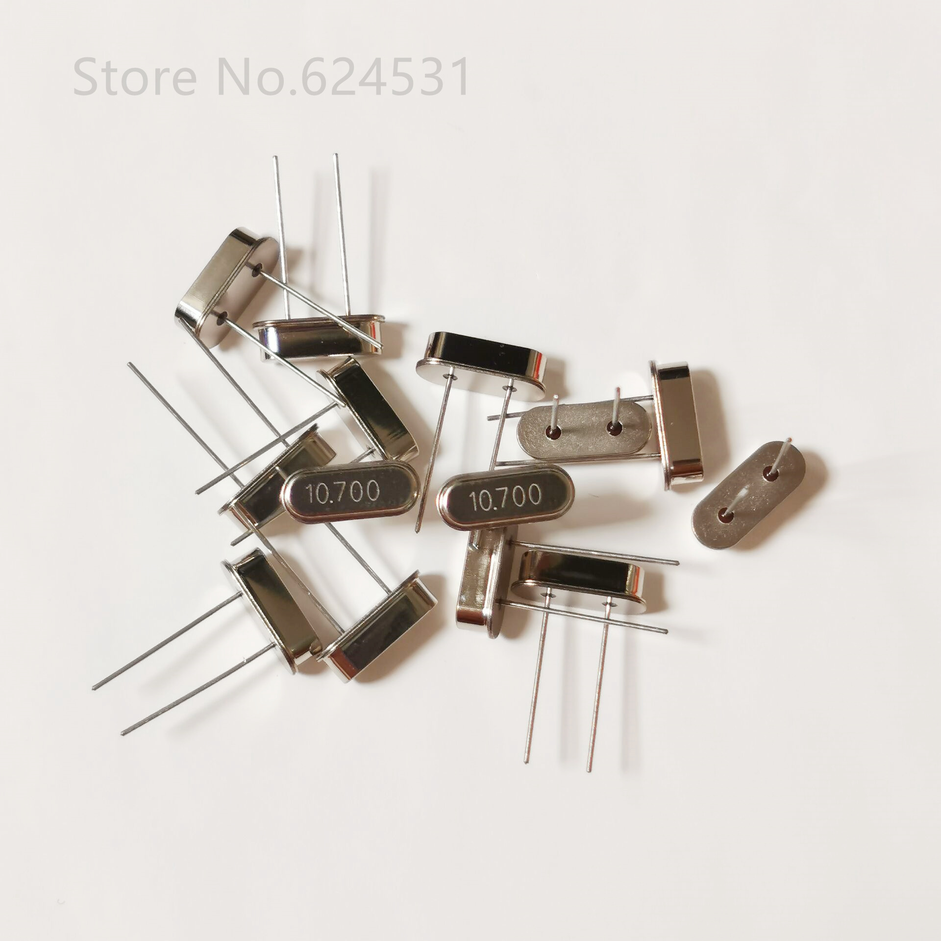 10pcs Quartz Crystal Resonator Crystal Oscillator 10.7M 10.7MHZ HC-49S In-line 2-pin Resonator