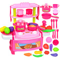 Child Kitchen Toys Plastic Pretend Play Toys For Kids Cooking Plastic Food Play Toy For Baby Birthday Gifts GW09