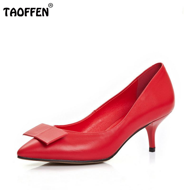 ФОТО lady real genuine leather thin high heel shoes women brand sexy heels fashion bowknot heels pumps heeled shoes size 34-39 R08341