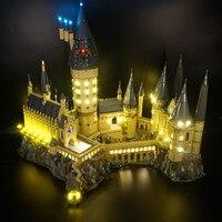 Kyglaring светодиодный свет комплект для Гарри Поттер хогварта с замком и фонарем Совместимость с 71043 (не включает модель)