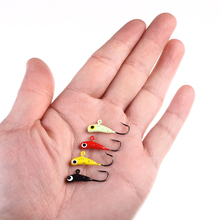 4PCS/Lot Banana shaped Mini lead fish jigging hooks lure ice fishing bait ice jig tackle 1.6g 2.2cm winter fishing lure